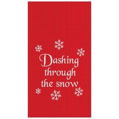 From drying dishes to cleaning up after baking your famous chocolate chip cookies, these machine washable woven cotton towels have endless uses. Kitchen Towels Crafts, Towel Crafts, Christmas Table Linen, Famous Chocolate, Dashing Through The Snow, Pillows Online, Deck The Halls, Cotton Towels, Linen Pillows