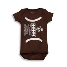 "Sara Kety® ""Daddy's Little Football"" Bodysuit - BedBathandBeyond.com"