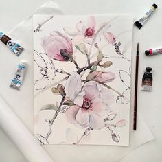 "Floral watercolor painting spring flowers 14.5k Likes, 43 Comments - Watercolor blog (@watercolor.blog) on Instagram: "" Watercolorist: @kadantsevanatalia #waterblog #акварель #aquarelle #drawing #art #artist #artwork…"""