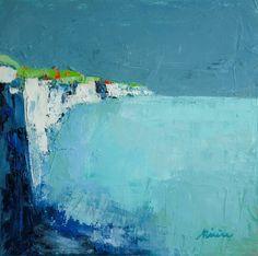 Huile sur carton toilé 39x39cm #falaise #peinture #huile #paysage #abstrait #bleu Painting, Toile, Cliff, Abstract Backgrounds, Landscape, Blue, Painting Art, Paintings, Painted Canvas