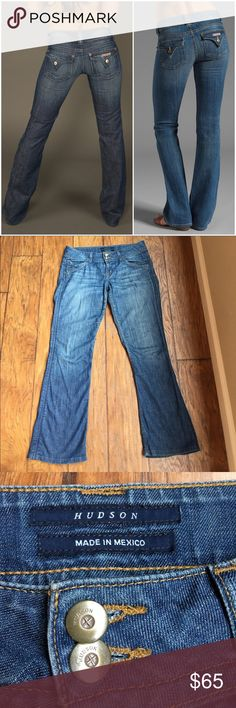 Hudson Blue Jeans Size 29 Get noticed in these excellent pair of Hudson Jeans! They make your backside look good! 👌🏼 - EUC - Only minor wear on the bottom back hem as pictured.  Measurements in photos above. Reasonable offers welcome. 20% off bundles! Hudson Jeans Jeans Boot Cut