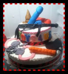 Adult toy party cake