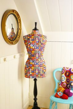 NEW Quirky Fun Crochet Mannequin Dressform - Yarn  on Etsy CorsetLacedMannequin    $318.31