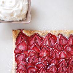 Puff Pastry Strawberry Tart