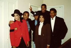 Michael, Joe, Randy, Janet, Jackie and Marlon (up top)