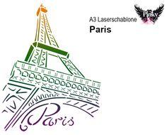 Pinky Style Laserschablone A3 Paris
