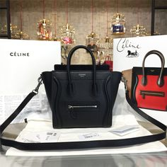 product code # 8572807 100% Genuine Leather Matching Quality of Original Celine Production (imported from Europe) Comes with dust bag, authentication cards, box, shopping bag and pamphlets. Receipts are only included upon request. Counter Quality Replica (True Mirror Image Replica) Dimensions: 19.5cm x7.5 cm x20 cm (Length x Height x Width) Our Guarantee: The handbag...READ MORE