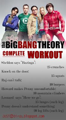 the complete big bang theory workout! She'll take requests and do other shows too. Friends is the most popular! <-- maybe I should do this as much as I watch this show Tv Show Workouts, At Home Workouts, Fitness Diet, Fitness Motivation, Health Fitness, Fitness Quotes, I Work Out, Big Bang Theory, Get Healthy