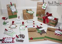 Under the Tree ~ Tag a Bag or a Box! (Stampin' Up!, Stylin Stampin INKspiration, Christmas, gift packaging, tags)
