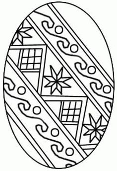 Printable Easter egg coloring page. Free PDF download at