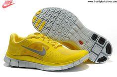 Wholesale Cheap Mens Nike Free Run 3 Chrome Yellow Sail Reflect Silver Shoes Sports Shoes Shop