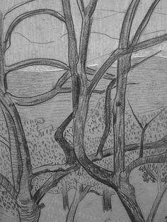 """SERUSIER Paul - Le Verger (Louvre RF40965-Recto) - Detail 19  -  TAGS/ details détail détails detalles drawing drawings dessins dessin croquis étude study studies sketch sketches """"dessins 19e"""" """"19th-century drawings"""" croquis étude study studies sketch sketches """"dessin français"""" """" French drawings"""" """"peintres français"""" """"French painters"""" Louvre Paris France Musée museum arbres tree trees trunk orchard grove nature"""