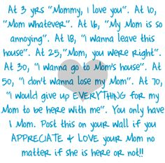 This is so true! I love u mommy!!!<3