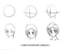 Blog do Andi: como desenhar pessoas em formato anime