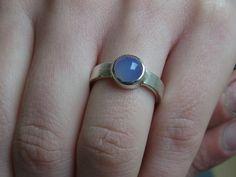 """Ring """"Steingut"""" (Blauachat) von GoldschmiedeNorwinVitten auf DaWanda.com"""