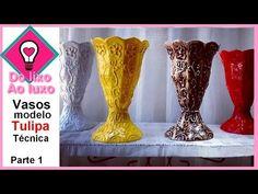 Vaso de caixas de leite - Modelo Tulipa - YouTube
