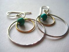Forged sterling and gold filled orbital by FelicitousCreations