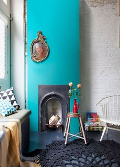 Color around the fireplace - Trendy Home Decorations Decoration Inspiration, Interior Inspiration, Room Inspiration, Design Inspiration, Interior Desing, Interior Styling, Interior And Exterior, Interior Decorating, Decorating Ideas