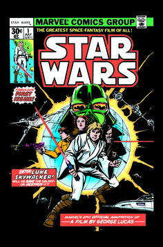 Howard Chaykin's iconic original cover of Star Wars #1.