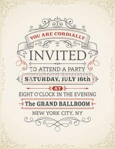 Vintage Invitation Royalty Free Stock Vector Art Illustration