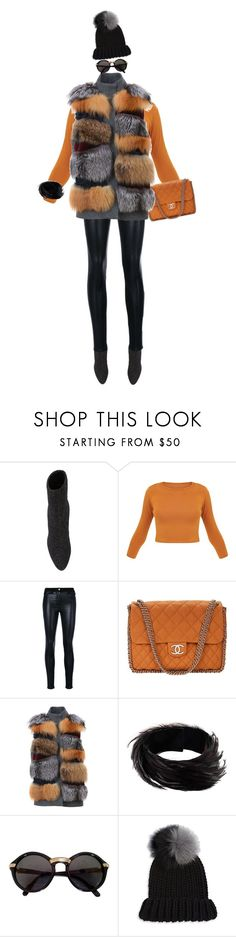 """""""Preparation!"""" by prettynposh2 ❤ liked on Polyvore featuring Giuseppe Zanotti, Versace, Chanel, S.W.O.R.D., Dries Van Noten, Cartier, Eugenia Kim, ankle and fur"""