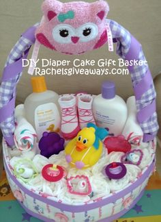 Baby Shower Gifts: How to Make a Diaper Cake Gift Basket