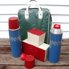 Picnic Set  Thermos Collection  Coffee Thermos  by WhimzyThyme