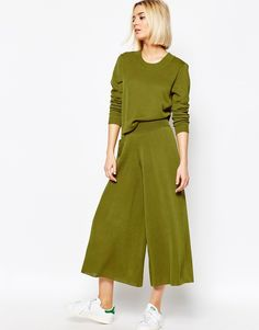 Weekday Crop Knit Pant Co-Ord With Pocket Detail