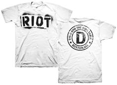 Big D & The Kids Table Riot Circle Logo White T-Shirt for $19.95   http://www.jsrdirect.com/merch/big-d-the-kids-table/riot-circle-logo-white  #bigd #bigdandthekidstable #bandtees #punktees #skatees #punktshirts #skatshirts #bandtshirts #skapunk #riot #riotcirclelogo