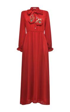 Poppy Trifoglio Maxi Dress by VIVETTA for Preorder on Moda Operandi