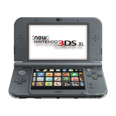 The Nintendo NEW 3DS XL - Black features face Tracking 3D, The C Stick, Built-in amiibo Support, and more...