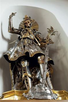 St Pancratius, in 18th-century armour