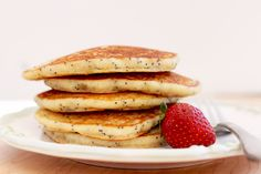 Lemon Poppyseed Pancakes by The First Mess | Oh my goodness... The Lord knows how much I love lemon poppyseed muffins. Sounds even tastier in pancake form.