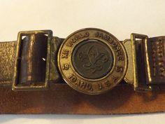 Boy Scout Belt 1967 WORLD JAMBOREE  LEATHER   33