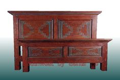southwest style furniture | zuni bed southwestern style beds in solid pine and southwest