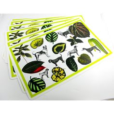 These festive flora and fauna design place mats are a wonderful addition to the home and can be used by both pets and people!