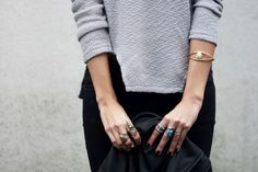 Romwe sweater, New look jewel (image: connectedtofashion)