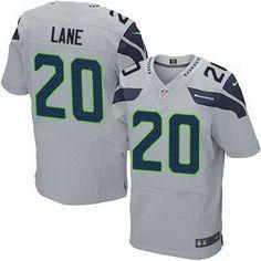 Men's Seattle Seahawks #64 J. R. Sweezy Gray Alternate NFL Nike Elite Jersey