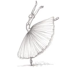 Fashion Illustration inspired by the Ballet Giselle.  by Stephanie Jimenez