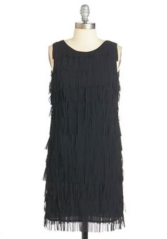 Black fringe 1920s style party dress - Swish Fulfillment Dress