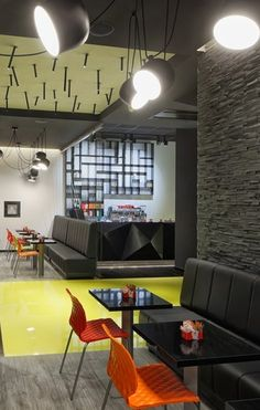 Wok Burger Restaurant Zagreb Croatia Designed By Ade Studio Restaurant Lounge Restaurant Design Interior