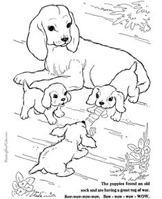 Dog Coloring Pages - 100+ free, printable coloring pages of dogs!