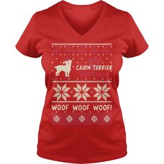 Cairn Terrier Christmas Woof, Order HERE ==> https://www.sunfrogshirts.com/Red-Ladies-V-Neck-Cairn-Terrier-Christmas-Woof-274650329.html?29538, Please tag & share with your friends who would love it, border terrier quotes, border terrier puppy cute, border terrier puppy baby #borderterrier #architecture #art #christmasgifts #xmasgifts #birthdaygifts #bestfriend #giftsegment #girlfriendgiftideas