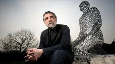 Jaume Plensa with Kneeling Shadow.