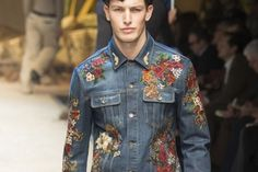 Embroidered Men's Denims From Dolce & Gabbana For Fall 2016