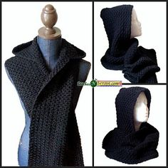Sometimes you just want to wrap yourself up in darkness. This soft and squishy hooded scarf is designed for black or dark colored yarns. The stitch pattern and unique construction mean you'll almost always be working into chain spaces. It would of course work great in other colors too!