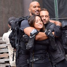 The Marvel's Agents of SHIELD family is back together. Gi Joe, Agents Of S.h.i.e.l.d, Shield Cast, Melinda May, Fitz And Simmons, Henry Simmons, Hail Hydra, Marvels Agents Of Shield, Agents Of Shield Daisy