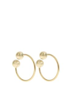 Double-sphere gold-plated hoop earrings | J.W.Anderson | MATCHESFASHION.COM