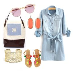 """""""To Market, to Market"""" by vrhandbags on Polyvore featuring Kendra Scott and Sheriff&Cherry"""