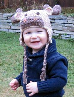 Crochet Moose Hat